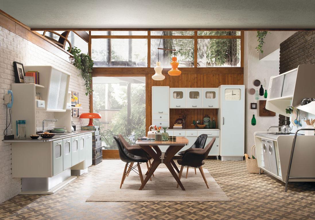une cuisine ouverte qui impose son style vintage - Cuisine Ouverte Sur Salon Petite Surface