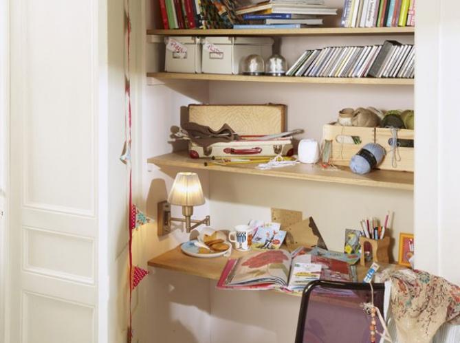 Bureaux 5 id es astucieuses pour gagner de la place for Meuble bureau pour petit espace