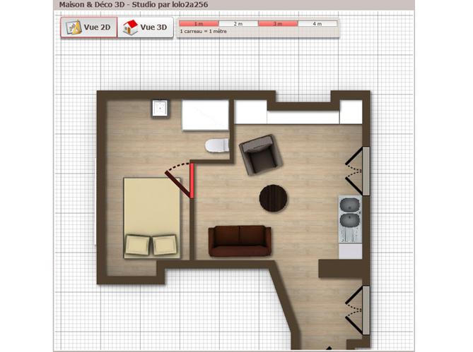 Vos petites surfaces en 3d elle d coration - Decoration maison petite surface ...