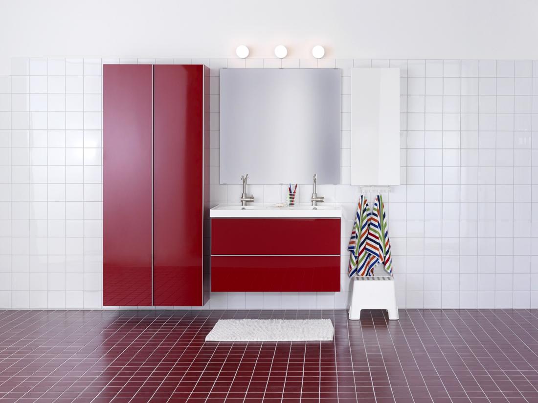 5 styles pour une salle de bain tendance elle d coration - Ikea meuble salle de bain godmorgon ...