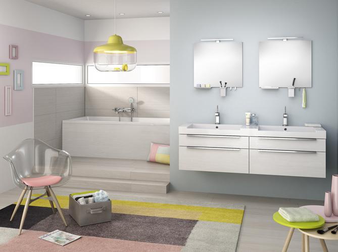 5 jolies salles de bains dans tous les styles elle d coration. Black Bedroom Furniture Sets. Home Design Ideas