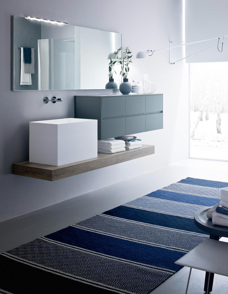 D couvrez les plus belles salles de bains bleues elle - Elements salle de bain ...
