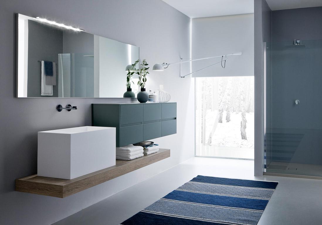 D couvrez les plus belles salles de bains bleues elle - Cout d une salle de bain ...
