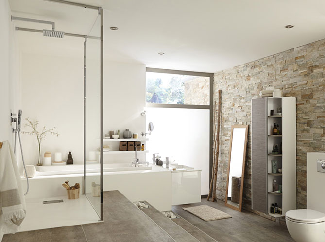 douche l 39 italienne tous les styles sont permis elle d coration. Black Bedroom Furniture Sets. Home Design Ideas