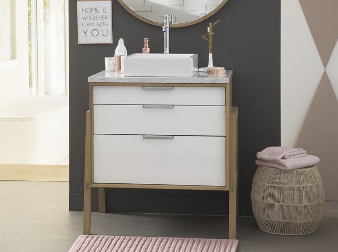 Tendance du jour les meubles de salle de bains en bois for Meuble salle de bain tendance 2016