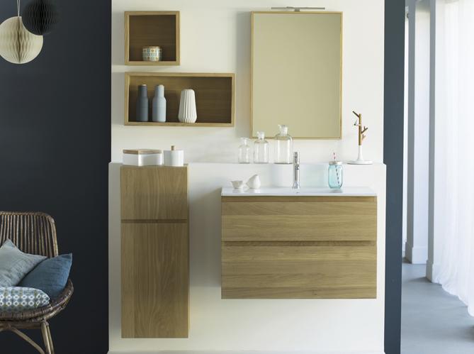 tendance du jour les meubles de salle de bains en bois elle d coration. Black Bedroom Furniture Sets. Home Design Ideas