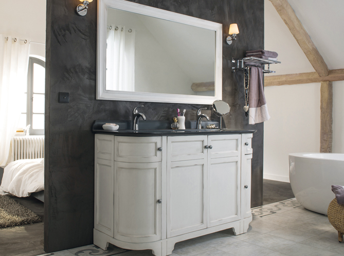 Un meuble ancien pour ma salle de bains elle d coration for Meuble de salle de bain style ancien
