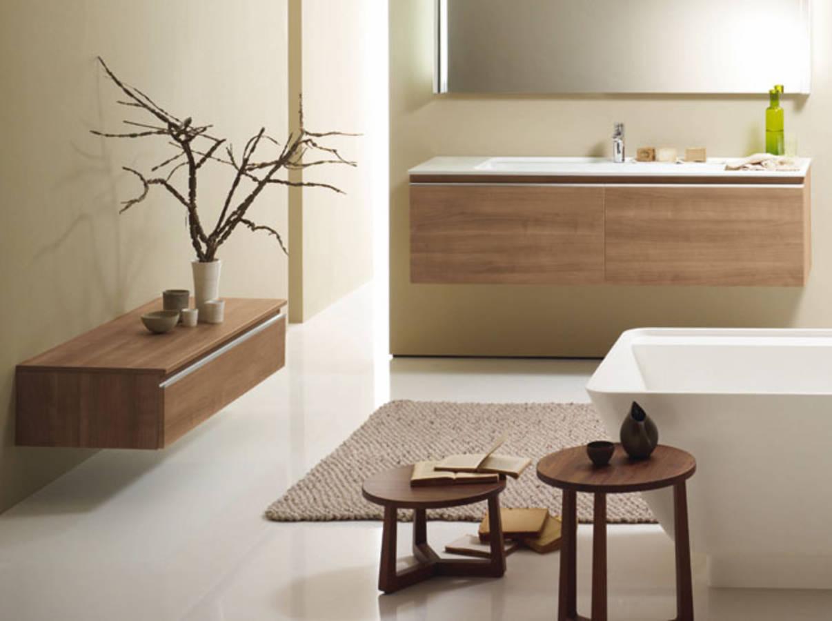 Nos id es avec des meubles de salle de bains design elle - Salle de bain zen et chaleureuse ...