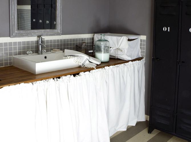 Nos id es d co pour la salle de bains elle d coration - Fabriquer son meuble de salle de bain ...