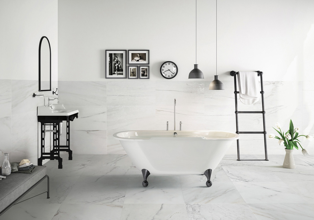 Revetement sol salle de bain saint maclou - Sol pvc salle de bain leroy merlin ...