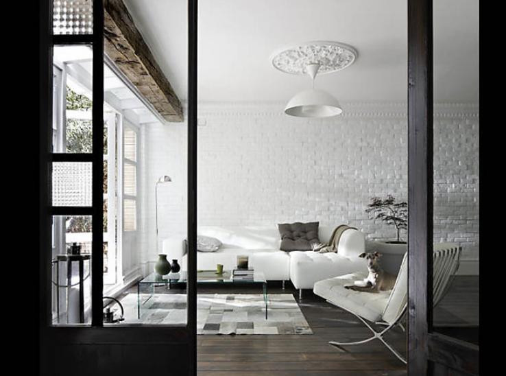 Des salons pour tous les styles elle d coration - Salon noir et bois ...