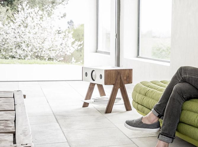 l 39 objet d co du jour l 39 enceinte sans fil la boite. Black Bedroom Furniture Sets. Home Design Ideas