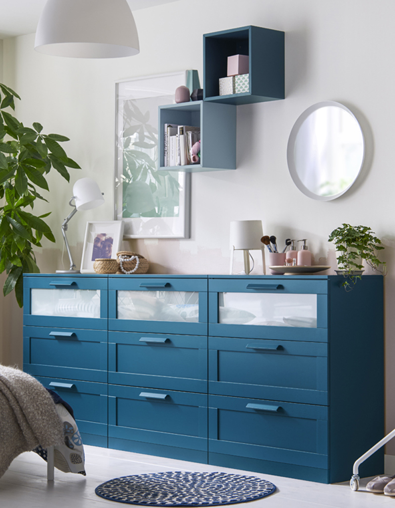 Commode ikea wenge awesome ikea robin dresser with for Meuble a langer ikea