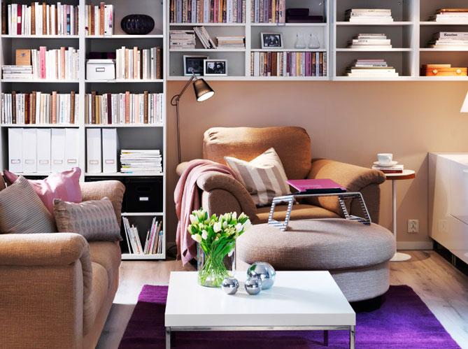 10 id es pour une biblioth que originale elle d coration for Deco objet salon