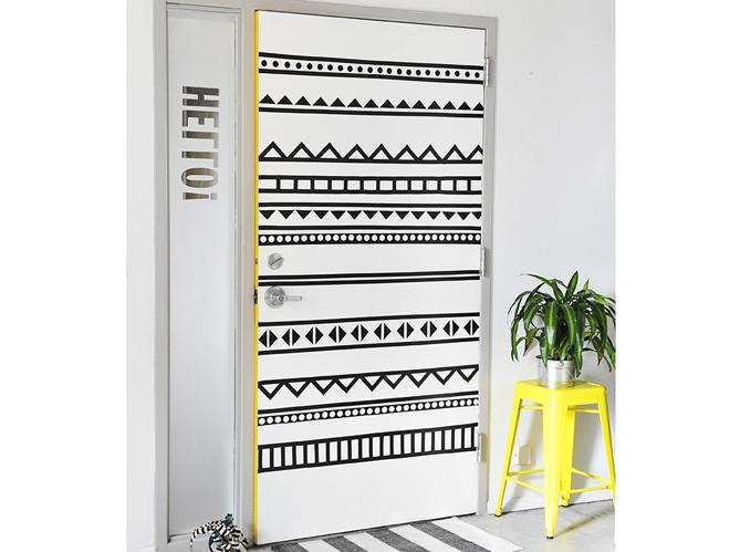 Portes personnalis es les jolies id es de pinterest elle d coration - Idee deco porte interieur ...