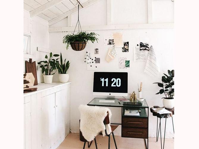 nos meilleures id es pour un coin bureau tendance elle. Black Bedroom Furniture Sets. Home Design Ideas