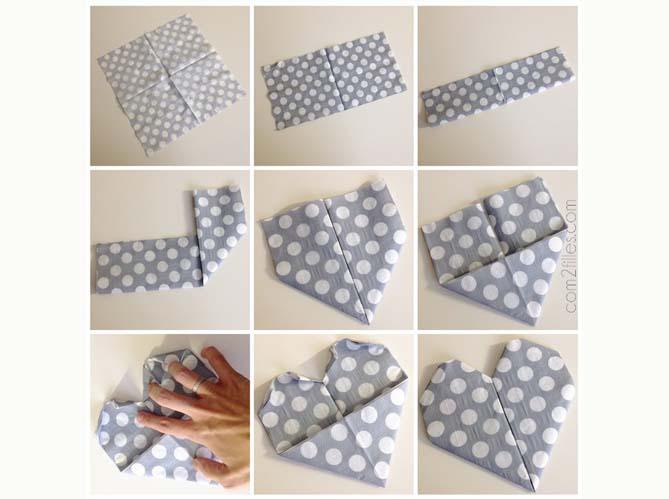 9 pliages de serviettes faciles elle d coration. Black Bedroom Furniture Sets. Home Design Ideas