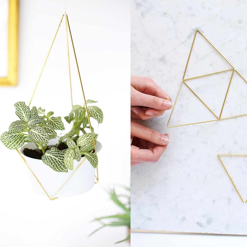 diy fabriquer une suspension de plante en laiton. Black Bedroom Furniture Sets. Home Design Ideas