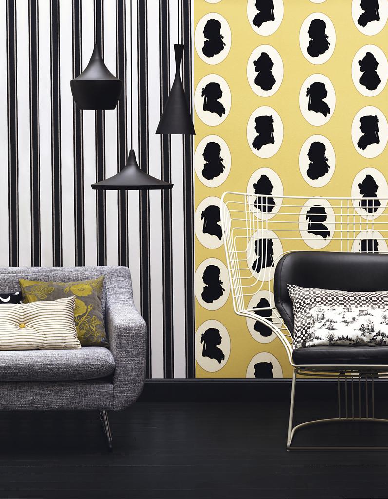 30 id es pour relooker vos murs elle d coration - Quatre murs papier peint ...