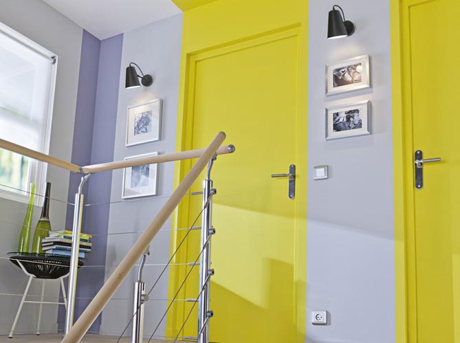 Faites entrer la couleur dans votre int rieur elle d coration - Mur gris et jaune ...