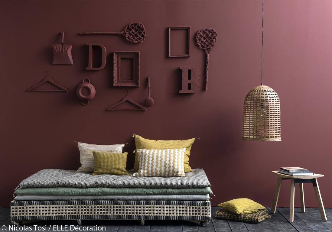 murs 8 id es d co originales elle d coration. Black Bedroom Furniture Sets. Home Design Ideas