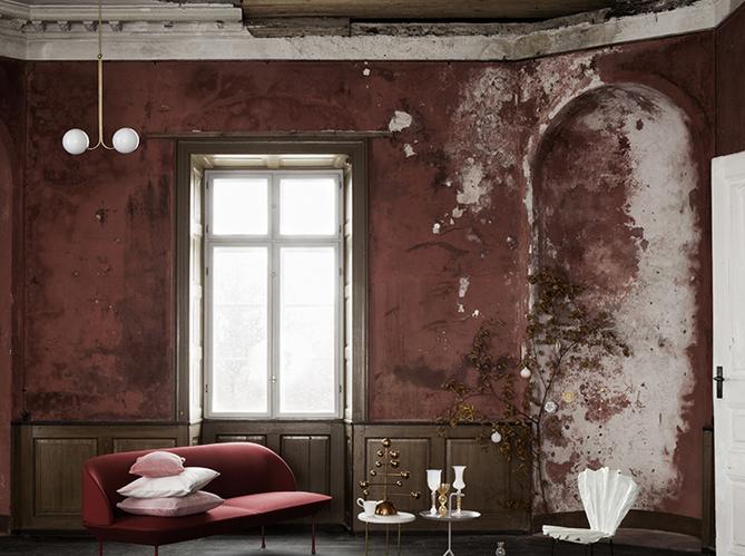 Adopterez vous la tendance du mur brut elle d coration - Peinture murale tendance ...