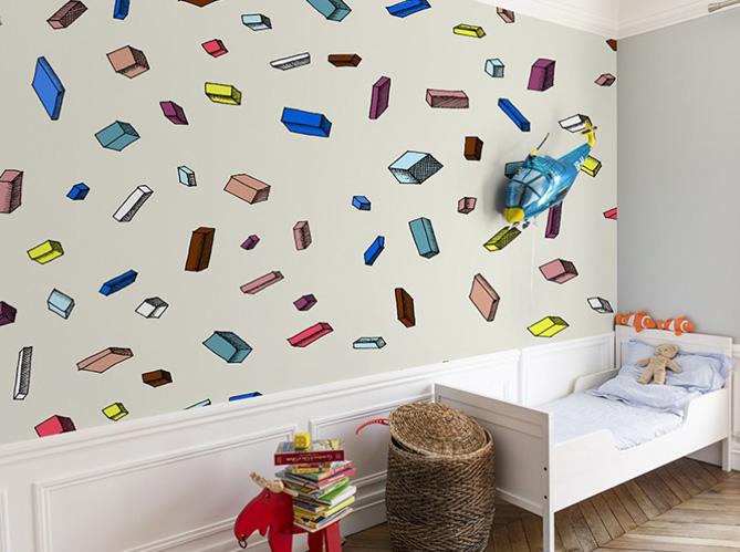 L 39 objet d co du jour le papier peint bien fait elle - Decoration murale avec papier peint ...