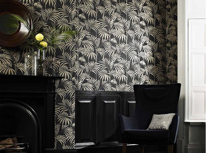 Un papier peint noir et blanc pour un mur l gant elle d coration - Papier peint bd noir et blanc ...