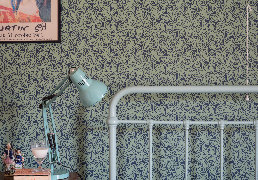 25 superbes papiers peints pour la chambre elle d coration - Papier peint feuillage ...