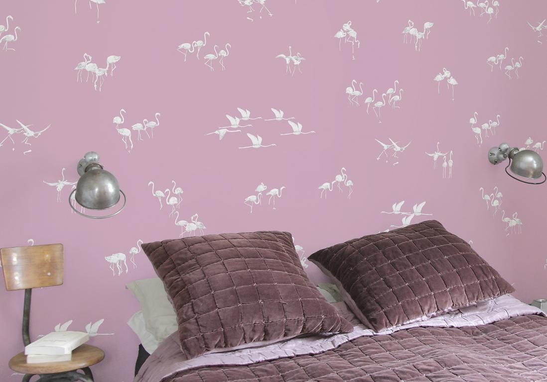 Tapisserie rose fashion designs - Tapisserie pour chambre ...