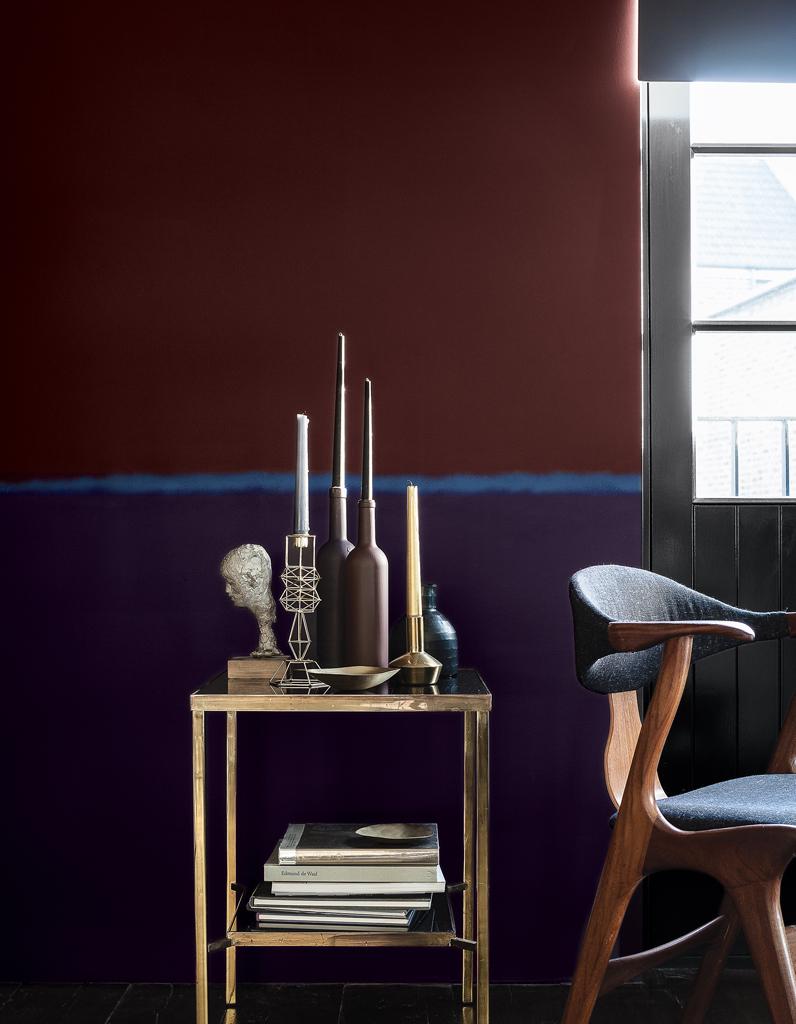 Peinture mur bicolore les derni res id es de design et int res - Peindre un mur en deux couleurs ...