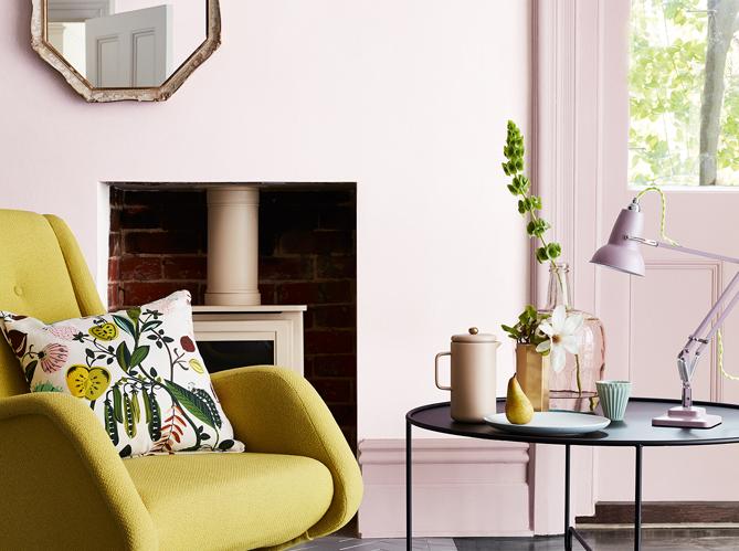 l actu du jour des murs en rose pour la bonne cause elle d coration. Black Bedroom Furniture Sets. Home Design Ideas