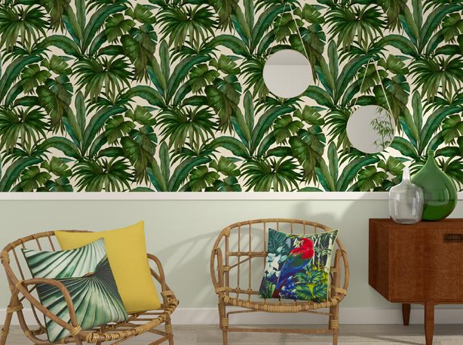 La tendance du jour le papier peint tropical elle d coration - Papier peint tropical ...