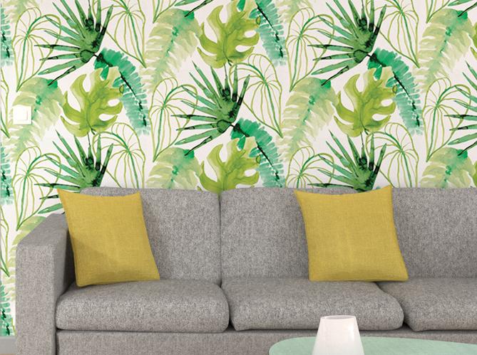 La tendance du jour le papier peint tropical elle d coration - Papier peint jungle tropicale ...