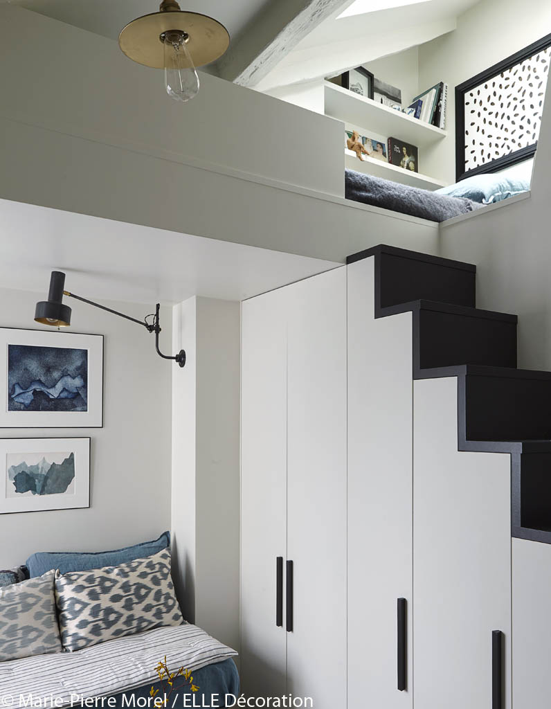 mezzanine chambre sous pente avec des id es int ressantes pour la conception de. Black Bedroom Furniture Sets. Home Design Ideas