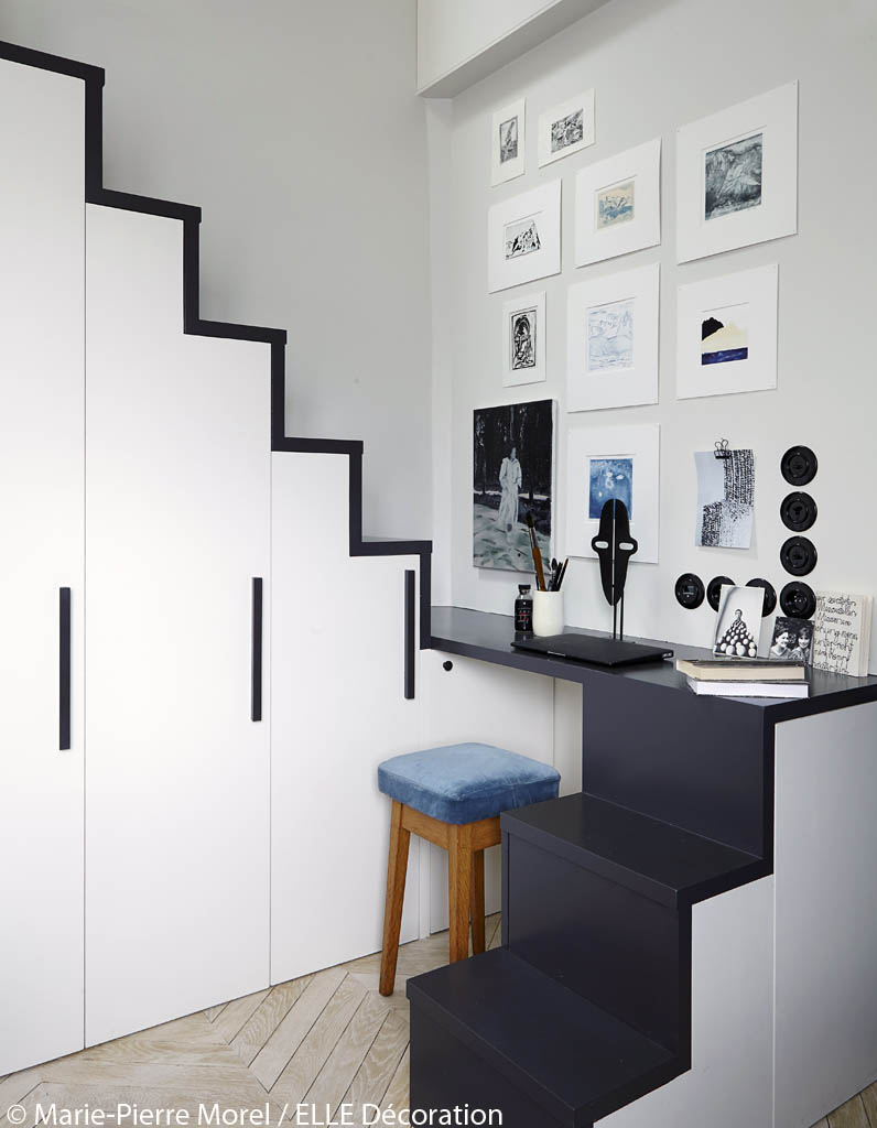 am nagement petit studio sous les toits vivre dans 11 m2 elle d coration. Black Bedroom Furniture Sets. Home Design Ideas