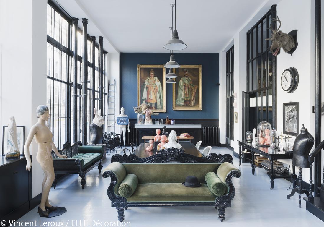 #7F634C Déco Originale Dans Le Loft Parisien D'Hervé Lopez : Le  4959 piece a vivre 50m2 1098x768 px @ aertt.com