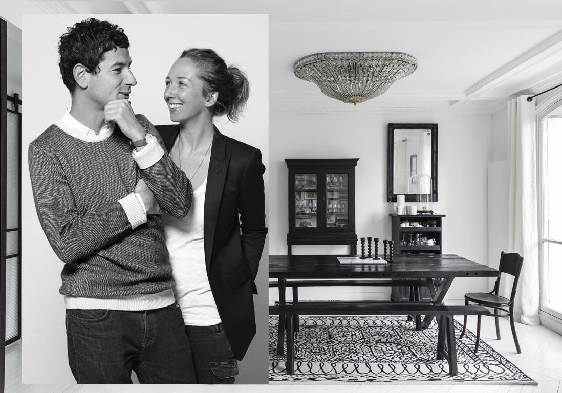 Décoration appartement noir et blanc : un appart' 100% noir et ...
