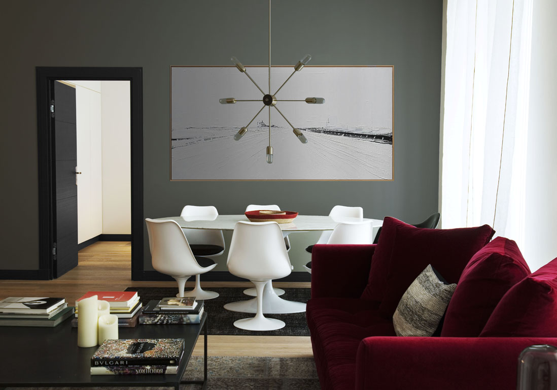 Un appartement chic parisien r nov r novations d 39 anciens bureaux en un appartement chic - La salle a manger paris ...