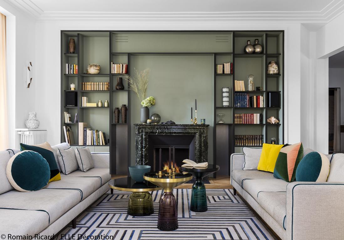 un grand appartement pile dans l 39 air du temps elle d coration. Black Bedroom Furniture Sets. Home Design Ideas