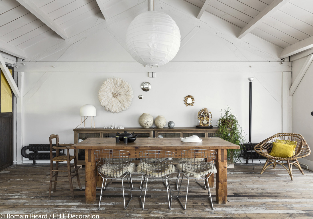 Deco salle a manger rustique maison design for Salle manger style campagne chic
