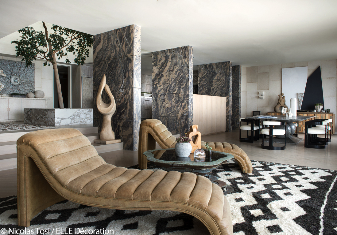 Une maison californienne ouverte sur le pacifique elle d coration - Maison plain pied deco orientale palm springs ...