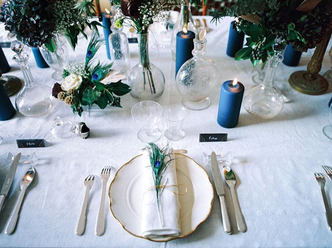 Au centre de la table de mariage elle d coration - Bougie centre de table mariage ...