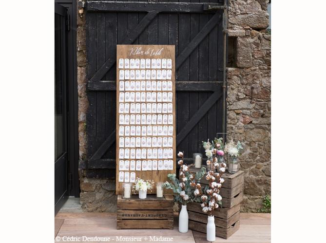 Mariage je veux un plan de table original elle - Decoration de table en bois ...
