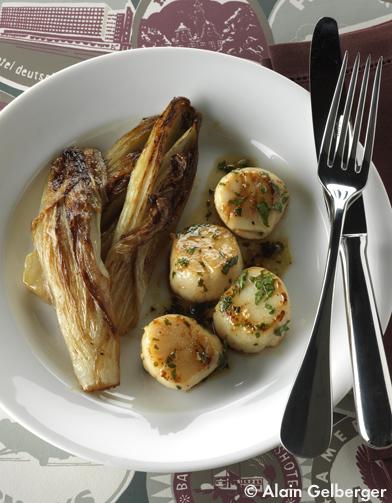 Saint jacques persill es endives brais es pour 4 - C est au programme recettes de cuisine ...