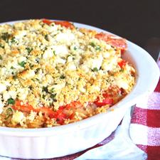 riz pilaf au crevettes la grecque croustillant de feta pour 6 personnes recettes elle table. Black Bedroom Furniture Sets. Home Design Ideas