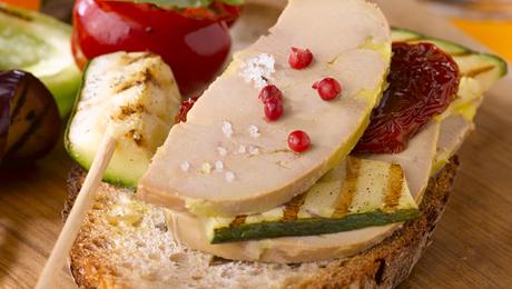 Foie gras et petits l gumes la plancha pour 6 personnes for Legumes a la plancha