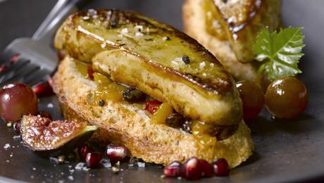 les tartines d automne au foie gras po l pour 4 personnes recettes elle table. Black Bedroom Furniture Sets. Home Design Ideas