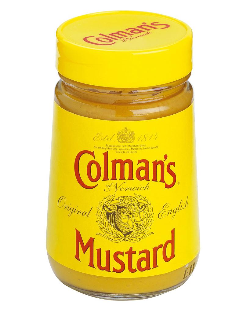 colmans mustard jar 25 produits anglais dont on ne peut se passer elle table. Black Bedroom Furniture Sets. Home Design Ideas