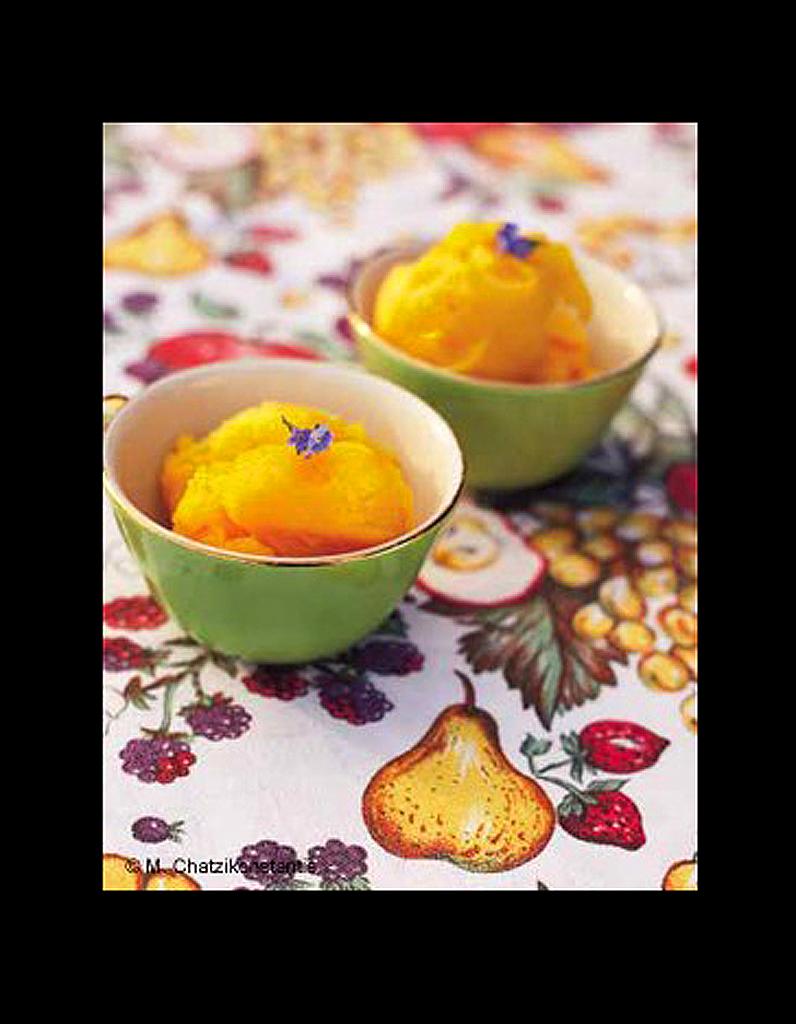 sorbet de mangue 50 recettes de glaces elle table. Black Bedroom Furniture Sets. Home Design Ideas